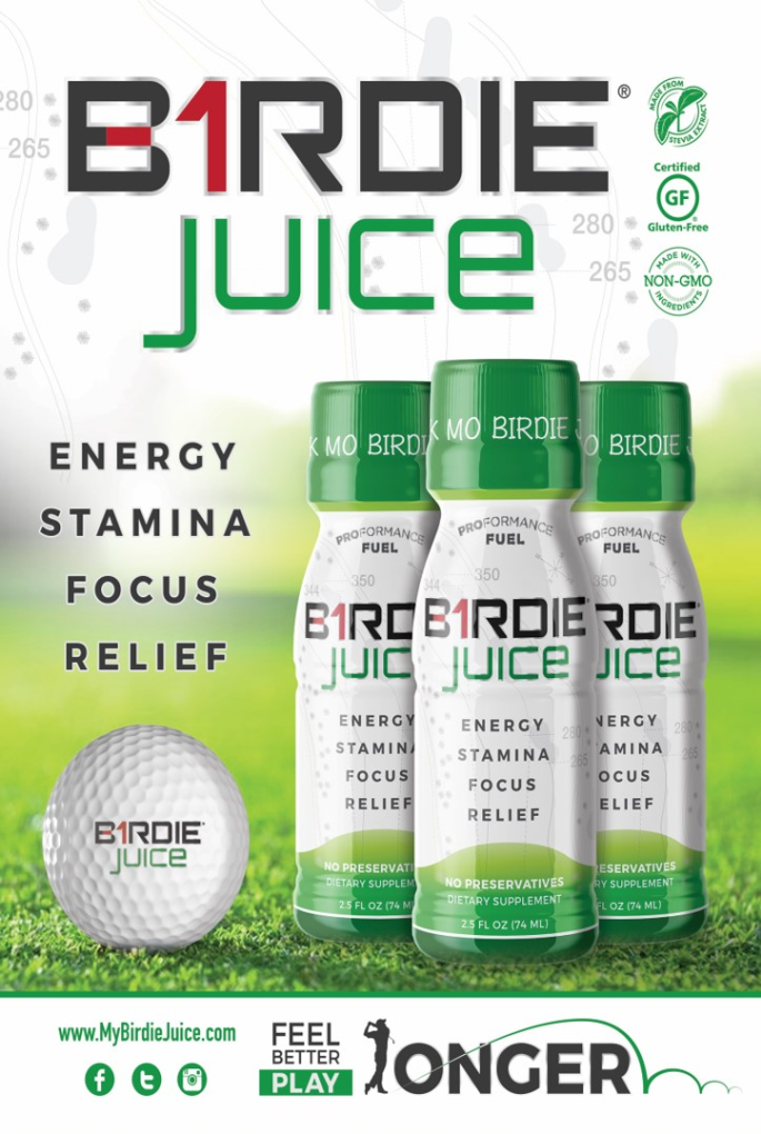 Birdie Juice Golf Energy Stamina Focus Relief Health Supplement Drink